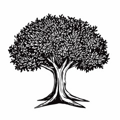 Tree Vector Illustration Logo Template