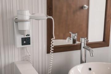 Modern bathroom in hotel