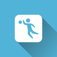 flat volleyball player icon