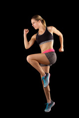 Woman Runner. Fitness Girl Running