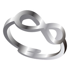 Isolated silver ring