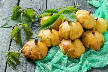 Homemade sweet pumpkin buns Fototapete