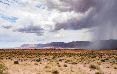 Summer rain, Marble Canyon Hwy 89 between Bitter Springs and Page, panoramic view - Arizona, AZ, USA