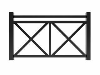 Black metal design railing