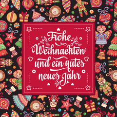 Frohe Weihnacht.  Xmas Congratulations in Germany