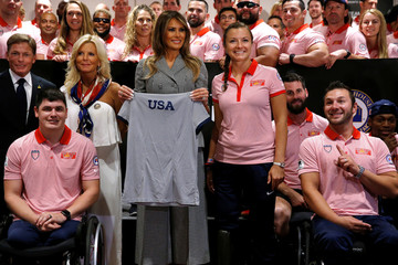 Melania Trump attends the opening ceremony of the Invictus Games in Toronto, Canada