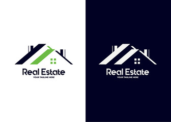 Real Estate Logo Template Design Vector, Emblem, Design Concept, Creative Symbol, Icon