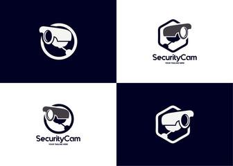 Security Camera Logo Template Design Vector, Emblem, Design Concept, Creative Symbol, Icon