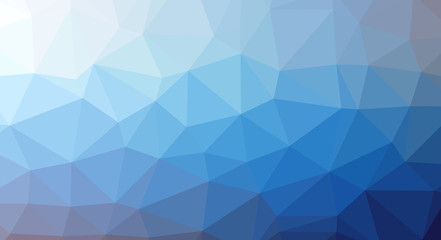 Abstract modern polygonal background based on geometric shapes of triangles of different sizes