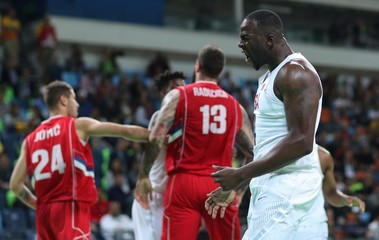 Olympics: Basketball-Men's Team-Preliminary Round USA vs SRB
