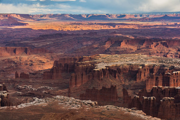 Canyonlands National Park Island in the Sky Trail Hike Landscape