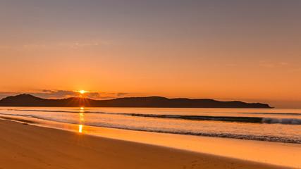 Orange Sunrise Seascape