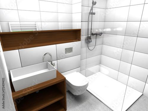 Kleines Modernes Badezimmer