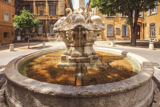 Fountain of the Four Dauphins or Place des Quatre Dauphins, Aix-en-Provence, France
