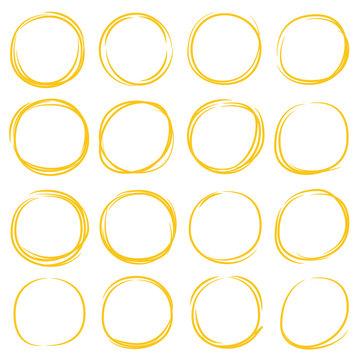 yellow circle marker elements