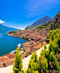 Lago di Garda panoramic view in Limone sul Garda