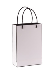 Shopping paper bag isolated on white background with clipping path