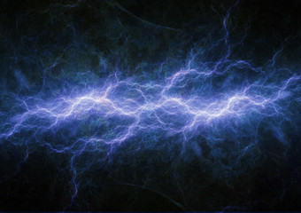 Blue plasma, electrical lightning