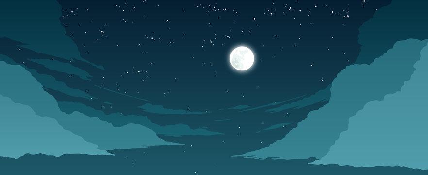 stylized sky illustration