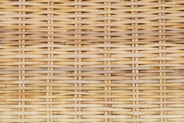 Closed Up of Rattan Texture of Basket Weave Pattern