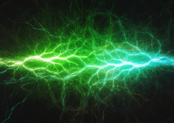 Green energy, electrical lightning background
