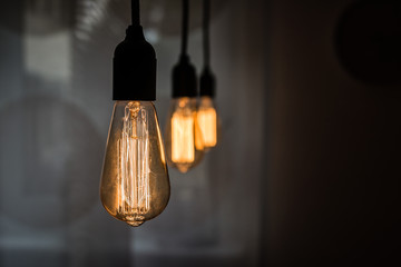 vintage Glühbirne mit Fäden
