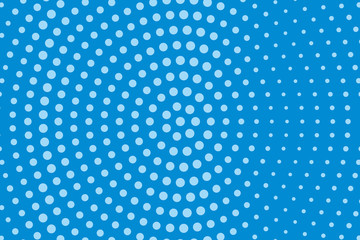 Comic pattern. Halftone background. Blue color. Dotted retro backdrop, panels with dots, points, circles, rounds