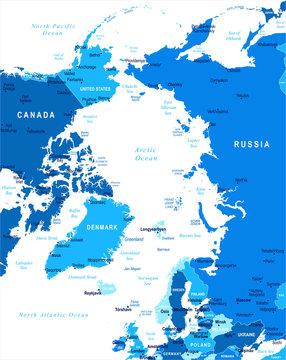Arctic Map - Vector Illustration