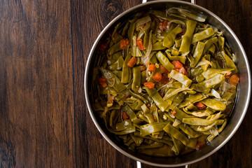 Turkish Green Beans with olive oil / Zeytinyagli Fasulye.