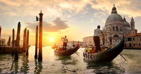Poster Venice Grand Canal at sunset