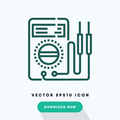 Electric tester icon, repair symbol. Modern, simple flat vector illustration for web site or mobile app