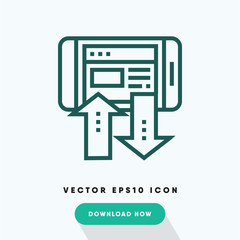 Transfer data icon, sync symbol. Modern, simple flat vector illustration for web site or mobile app