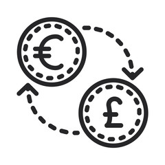 Euro sterling vector icon
