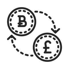 Bitcoin sterling vector icon