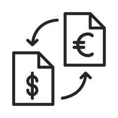 Dollar euro vector icon