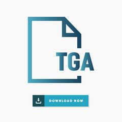 Tga file vector icon