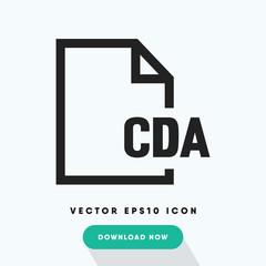 Cda file vector icon
