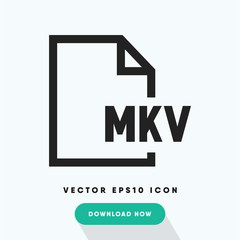 Mkv file vector icon