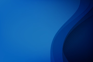 Abstract deep blue background curve and overlap layer with basic simply geometry illustration 006