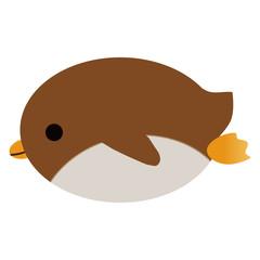 腹ばいのペンギン