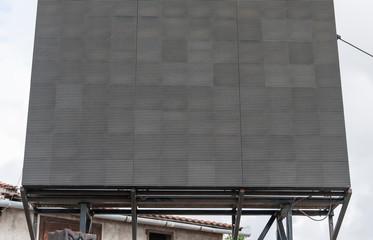 Empty, black, led  advertising board.
