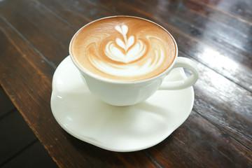hot coffee or latte art