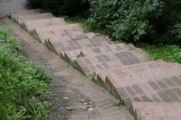 outdoor stairway made od tiles