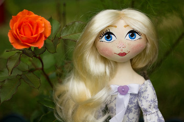 Hand sewing doll