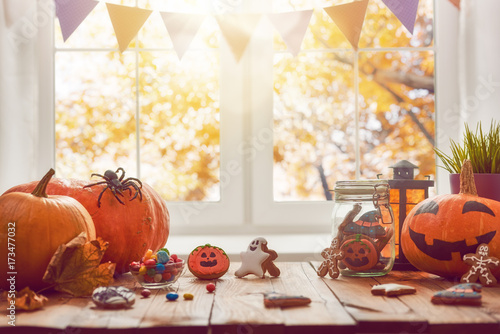 Pumpkin, sweets and cookies