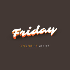 Friday - Weekend is Coming - Banner Design Template
