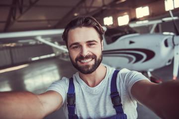 Mechanic and aircraft
