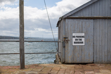 Fishing shed on a dock in the port