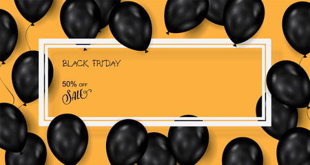 Black friday sale deals - vector balloons banner ( shopping , promotion )