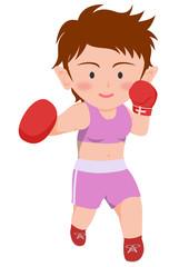 ボクシング 右フック 女子